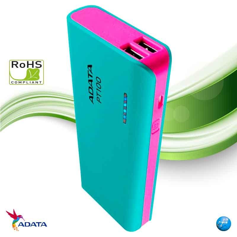 Power Bank 10000 mAh Adata PT100 azul tiffany