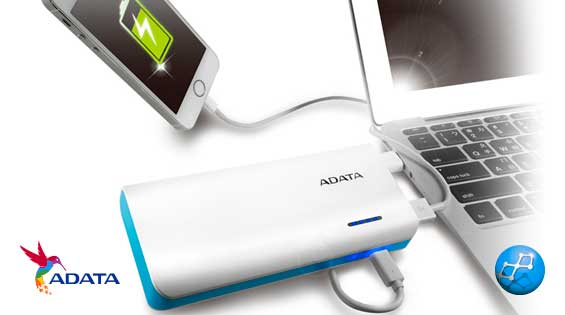 Power Bank 10000 mAh Adata PT100 carga sincrona