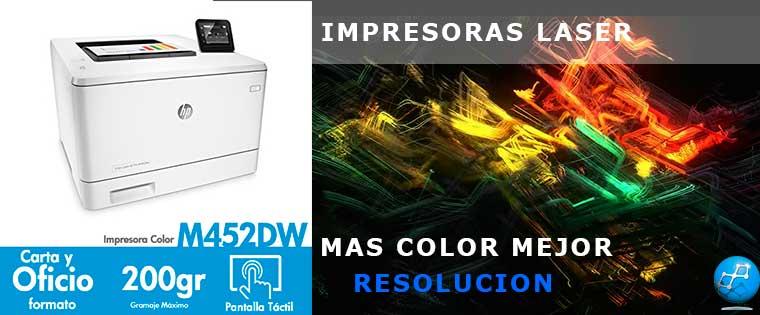 Impresora color hp laserjet pro m452dw cf394a