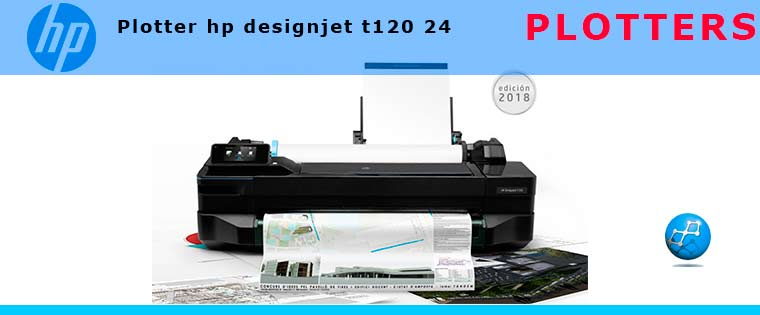 Plotter hp designjet t120 24