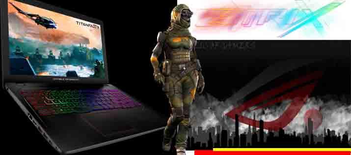 Asus ROG GL553VD intel i7 7700HQ Nvidia GTX1050 4GB DD1TB SSD128 Ram 12GB