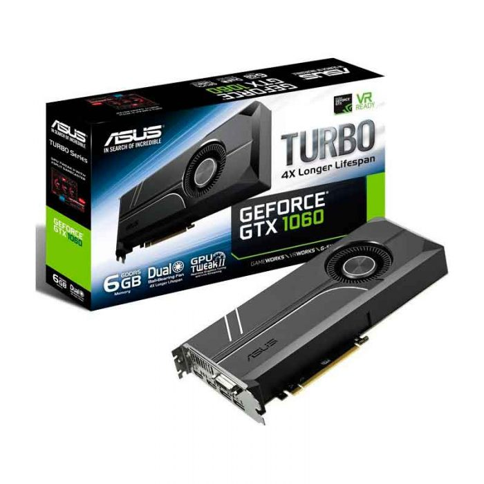 ASUS Geforce GTX 1080 | 8GB TURBO GDDR5X HDCP Ready SLI TARJETA GRAFICA 1