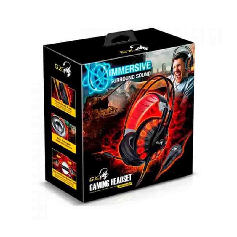 Cascos Para gamer | Genius HS-G680 Black Sesiones Gaming envolventes 1