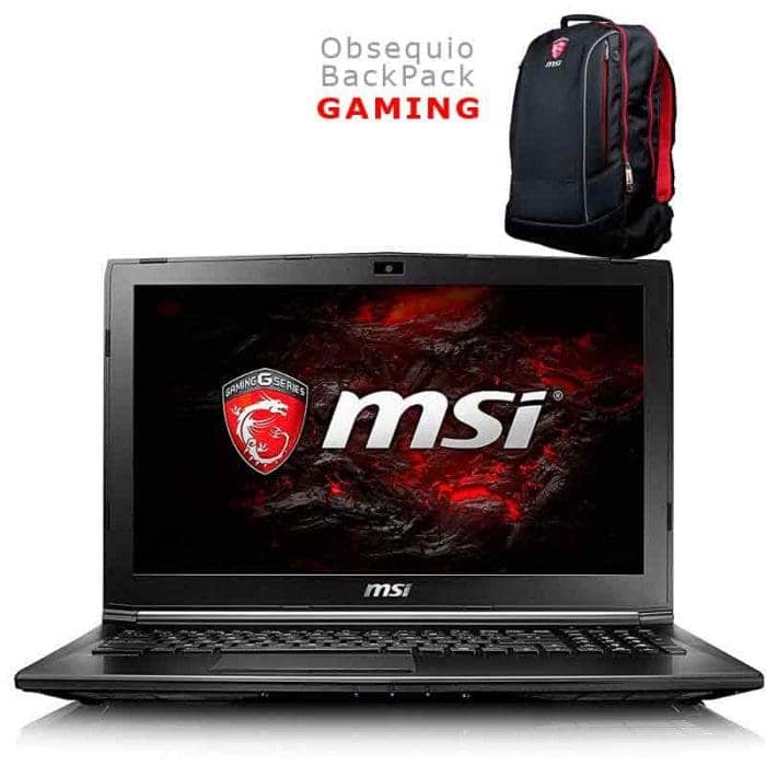 MSI GL62M 7RC Intel Core i5 HQ | Gamer Mem Ram 8GB DDR4 Video GTX1050 2GB DDR5