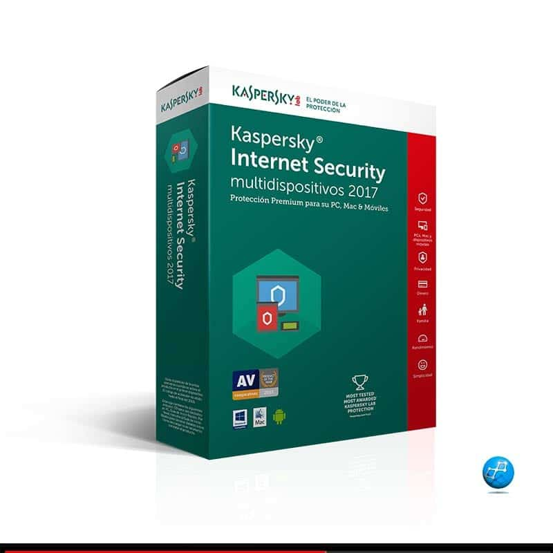 Kaspersky | 1 Dispositivo 1 Año. Antivirus con Internet Security