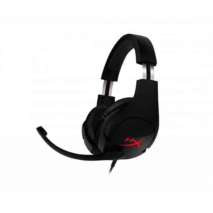 KINGSTON HYPERX CLOUD STINGER AUDIONO CON MICROFONO |PARA PC y Consolas, Alámbrico, 1.3 Metros + 1.7 Metros de Extensión, JACK 3.5mm, Negro/Rojo