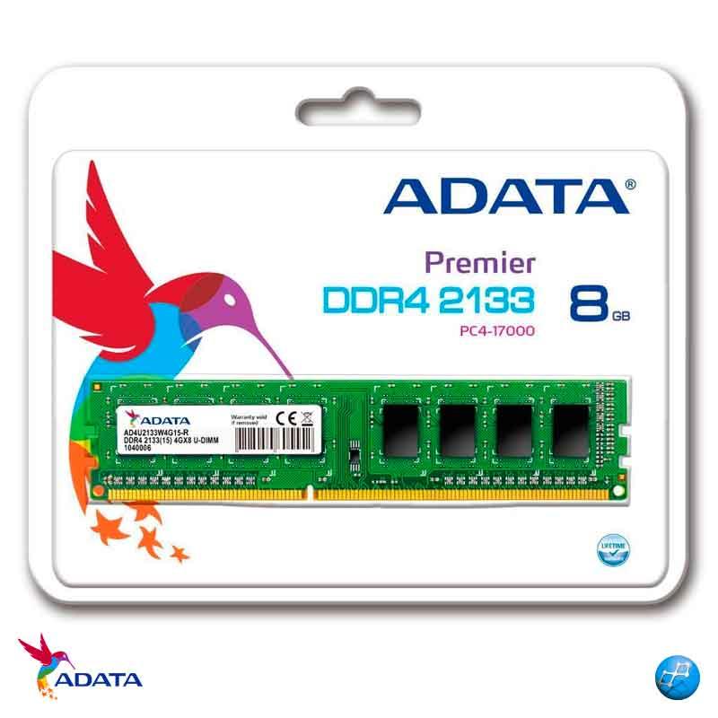 ADATA 8GB DDR4 PC | Memoria Ram 1X8 AD4U2133W8G15-S 1