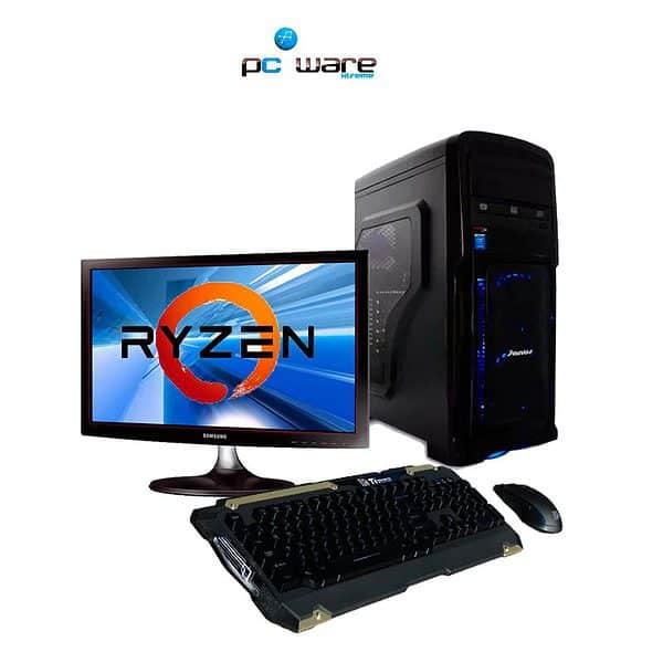 Pc Gamer AMD Ryzen 5 1600 | 8GB 1TB, GTX 1050 4GB 20 Pulgadas