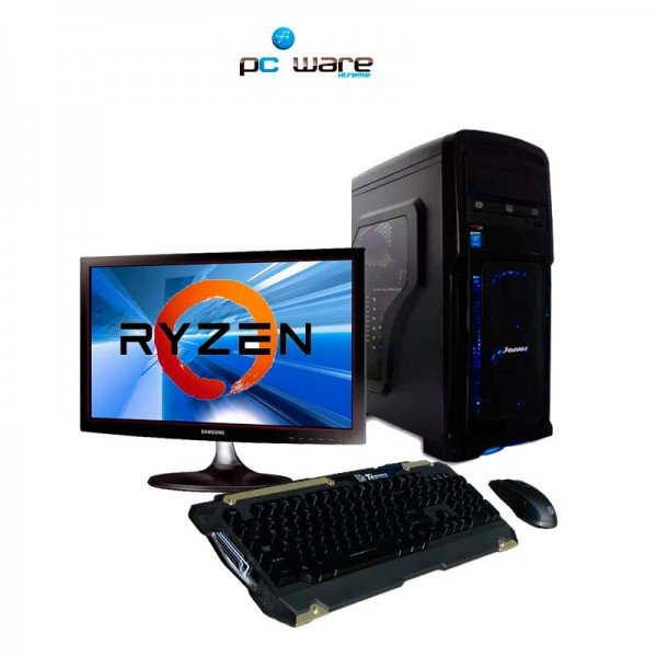 Pc Gamer AMD Ryzen 5   1400 -3.2Ghz 8GB 1TB, GTX 1050 4GB 20 Pulgadas