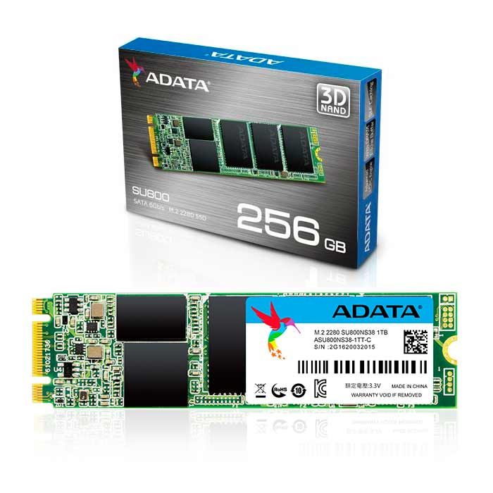 disco duro estado solido adata m2 ssd 256gb su800 2280