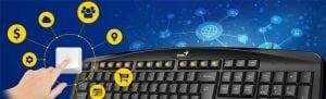 teclado usb genius kb 128 negro