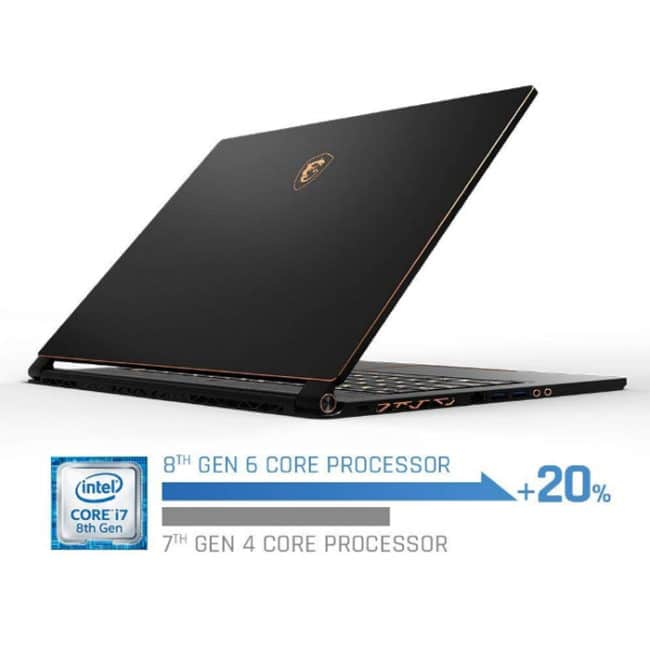 Portátil MSI gS 65 Stealth Thin 8re-thin Intel Core i7-8750H
